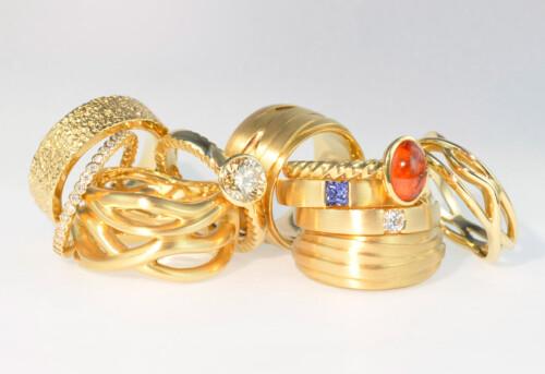 Ringe gelbgold Goldschmied Schmuck Trauringe Antikschmuck Goldschmiedeatelier Bern
