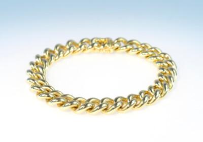 Bracelet gelbgold panzer