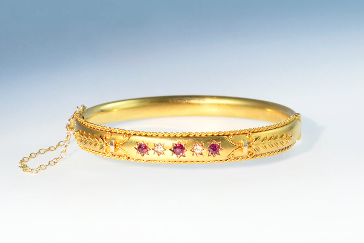 Armreif etruskisch rubin diam