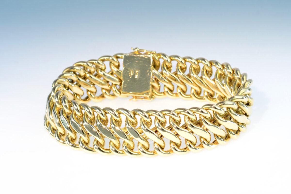Bracelet gelbgold fantasiepanzer
