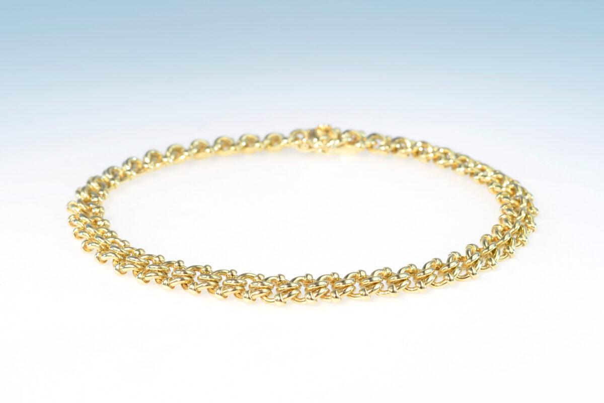Bracelet gelbgold knopf