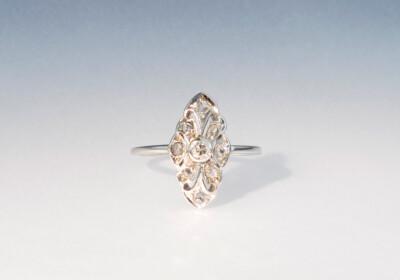 Ring navette diamanten