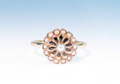 Ring rosette perlen