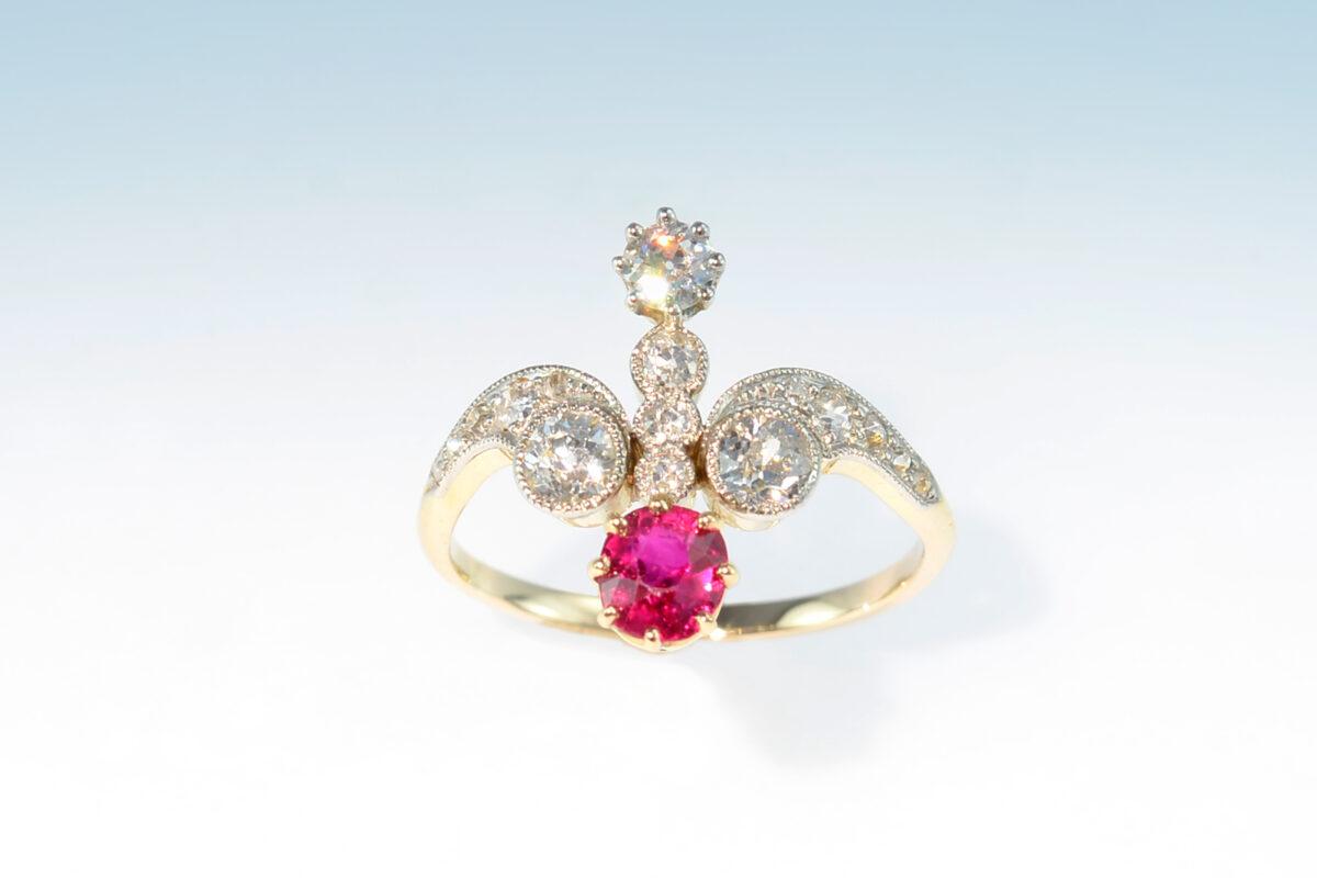 Ring belle epoque rubin