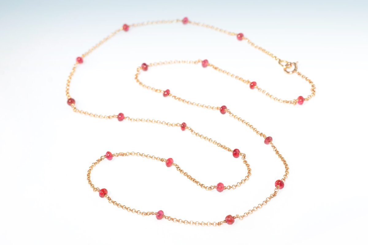 Kette rotgold spinell