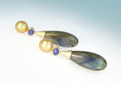 Ohrhaenger labra safir perle