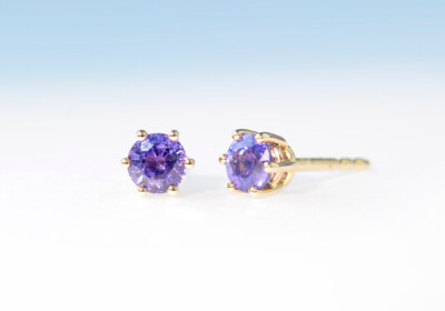 Ohrstecker safir violett