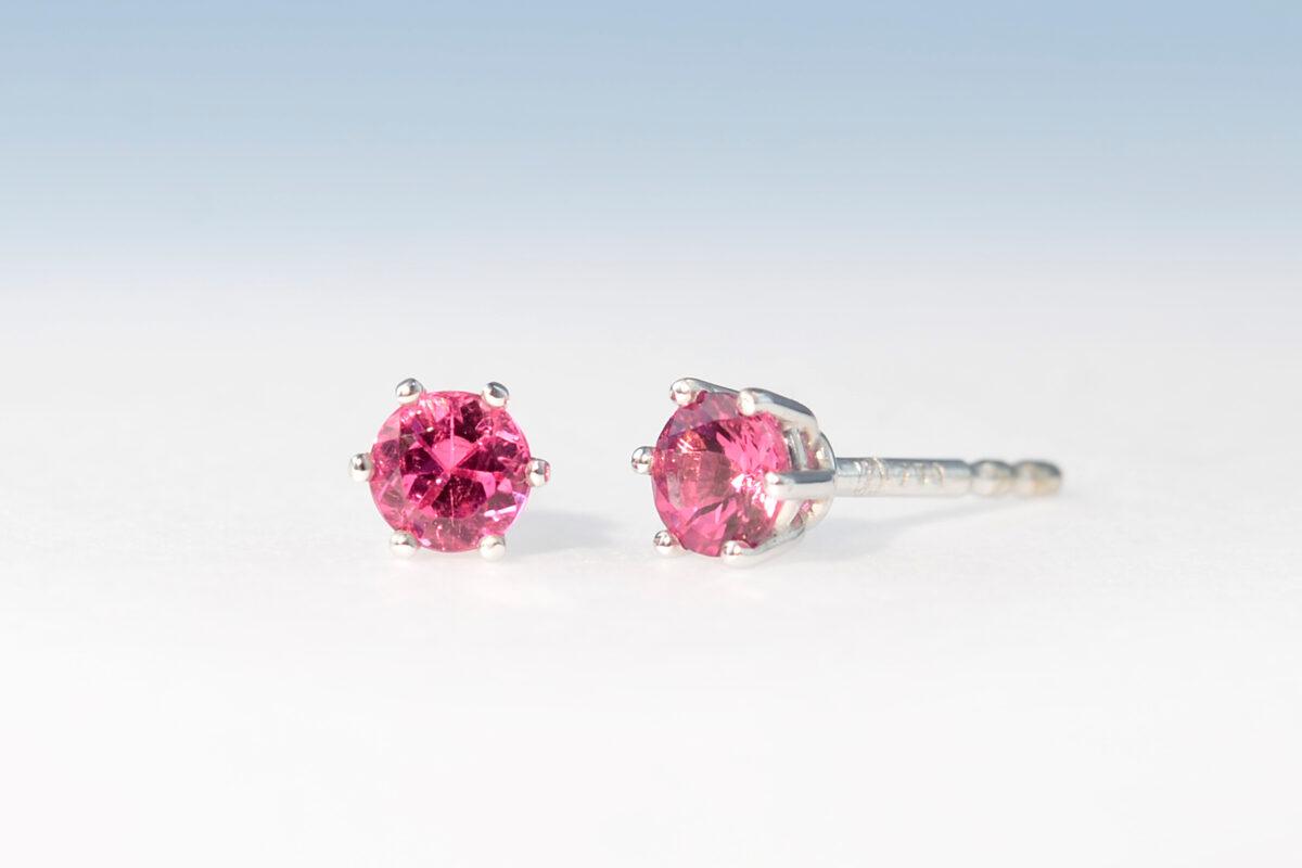 Ohrstecker turmalin pink