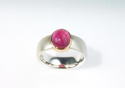 Ring silber turmalin pink